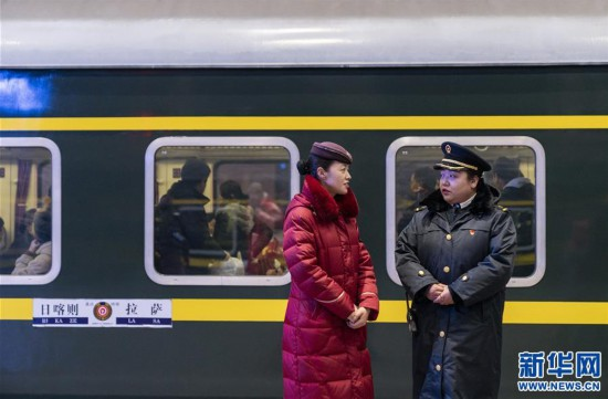 (新春走基层)(6)高原上的藏族女列车长――贡久曲珍