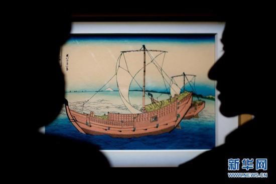(文化)(1)日本浮世绘《富岳三十六景》在湖北首展