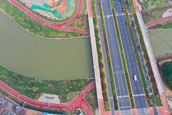 漳州龙文九十九湾河道整治完工 滨水生态景观显现
