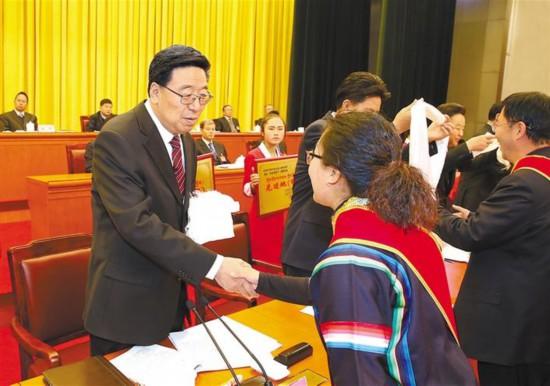 """西藏自治区平安建设(综治工作)暨""""先进双联户""""创建活动表彰大"""