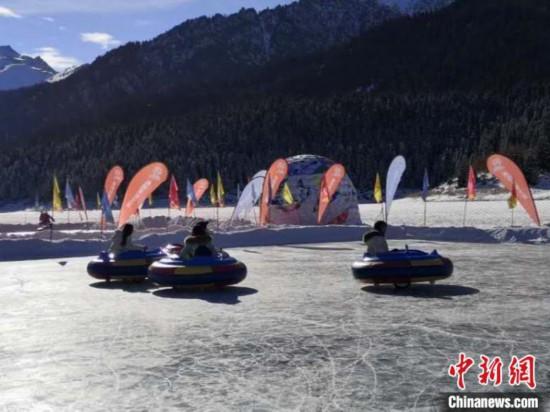 """2020年新疆天山天池""""冰封雪湖""""冰上项目开幕"""