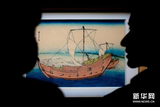 (文化)(1)日本浮世繪《富岳三十六景》在湖北首展