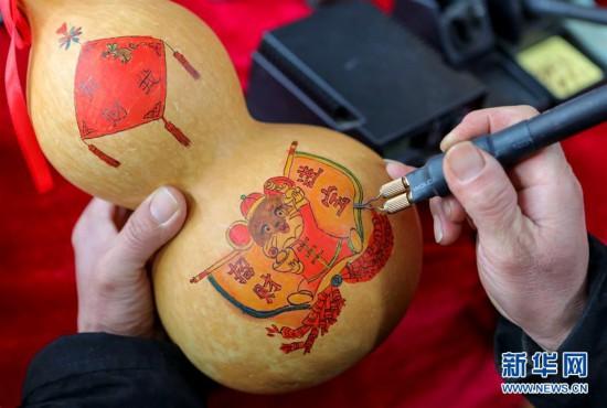 (文化)(1)葫芦烙画迎新春