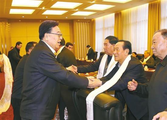 西藏自治區領導與離退休老同志座