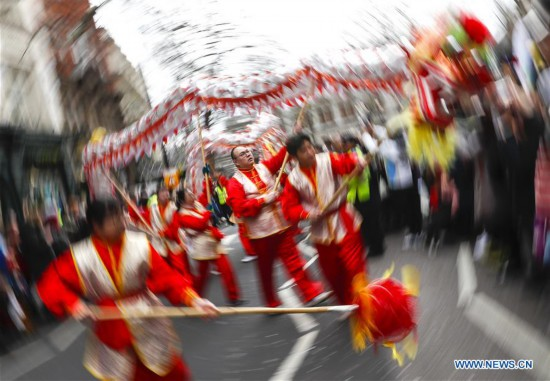 Chinese Lunar New Year parade held in London