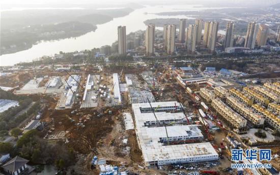 (聚焦疫情防控)(1)武汉火神山医院建设快速推进