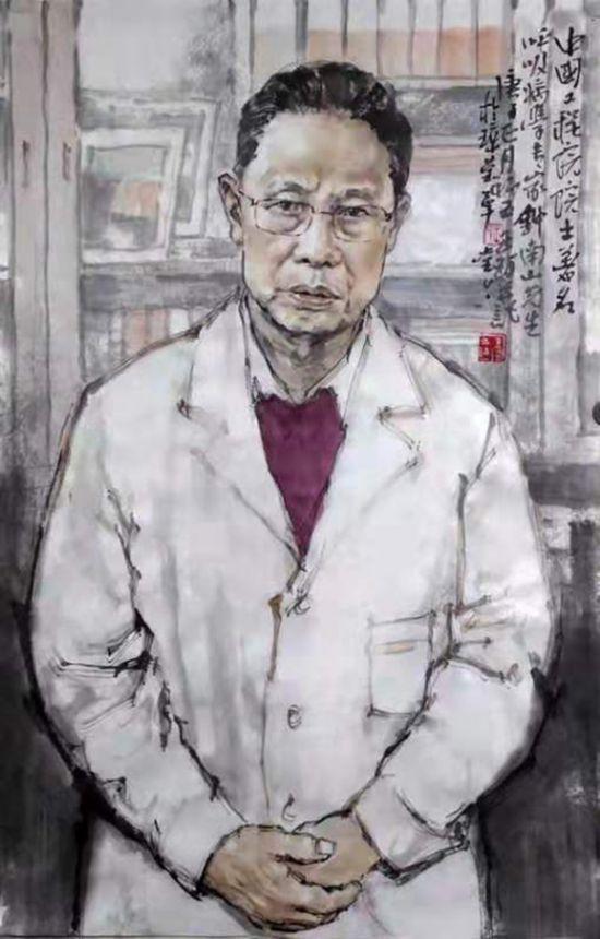 《钟南山院士》  王珂   中国画.jpg