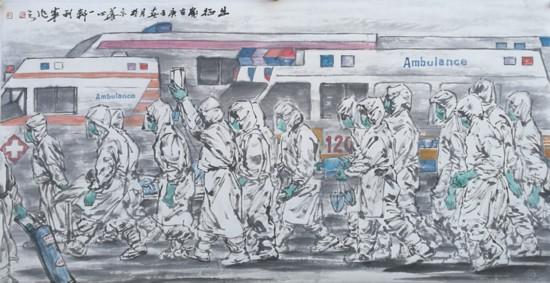 5《出征》 王利军 中国画.jpg