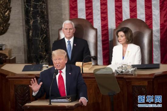 (国际)(1)特朗普在国会发表国情咨文