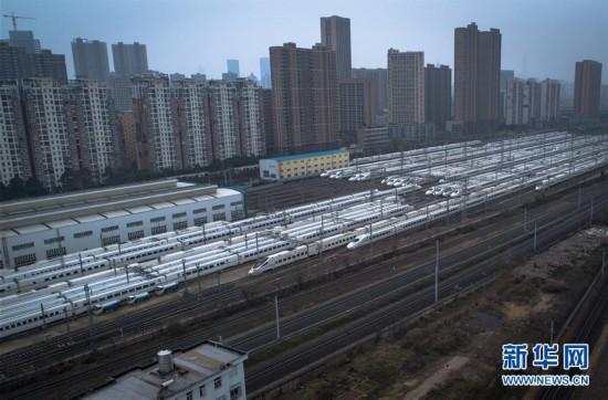 (聚焦疫情防控)(1)武汉:停摆的列车