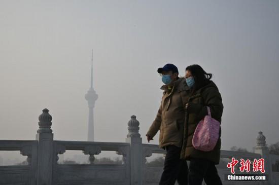 北京玉渊潭公园游客寥寥