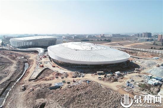晋江市第二体育中心项目建设现场