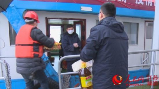 江蘇南京:每日送菜停留錨地船民生活無憂