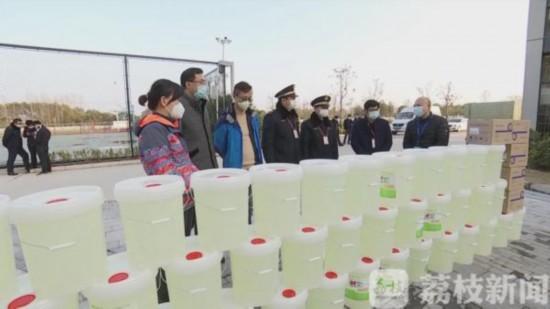 常州工程職業技術學院老師自制30噸消毒液贈送至防控一線