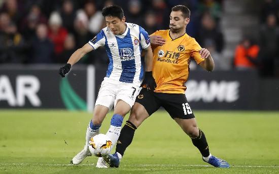 武磊3次射门造威胁西班牙人欧联杯仍惨败