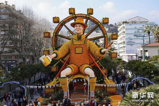(国际)(1)法国芒通举办第87届柠檬节