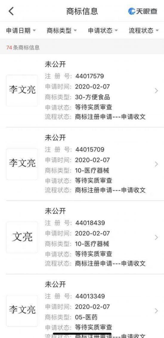 天眼查显示长沙市福茶堂电子商务有限公司申请商标截图。