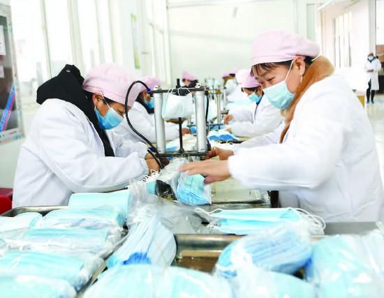 淮安金湖口罩生產企業緊抓生產不放鬆                                                                                        下一期