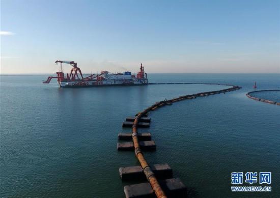 (经济)(1)河北唐山:海上重点交通项目复工