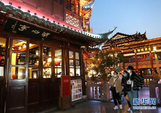 (社会)(1)上海豫园重新亮灯