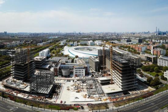 科学设施恢复建设 上海交通大学张江科学园工程复工中