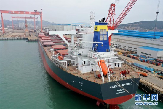#(经济)(2)山东即墨:造船企业加紧赶制海外订单
