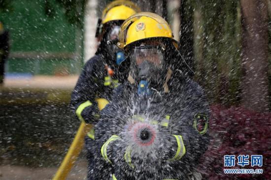福建龙岩:消防岗位练兵忙