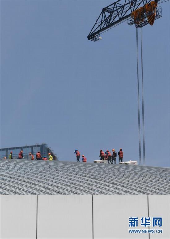 (体育)(4)杭州亚运三馆恢复正常施工