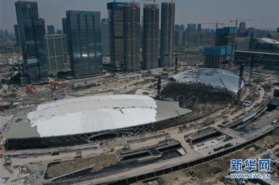 (体育)(2)杭州亚运三馆恢复正常施工