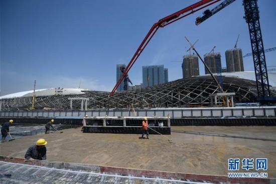 (体育)(3)杭州亚运三馆恢复正常施工