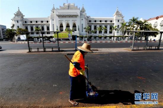(国际疫情)(1)缅甸:空旷的街头