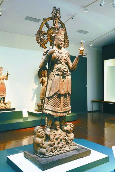 日本毗沙门天雕像与中国文化渊源