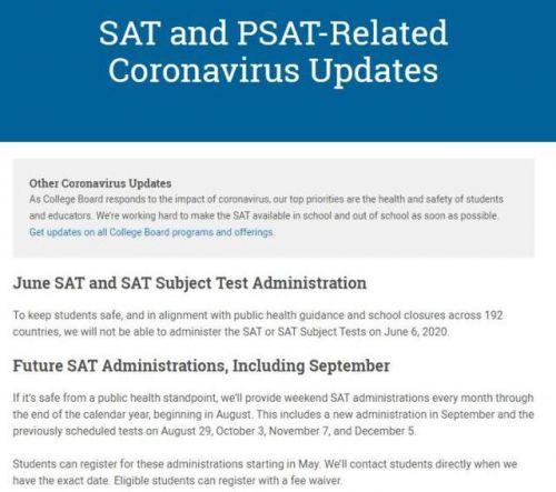 6月SAT考试取消怎么回事?SAT考试什么时候重新开始具体详情