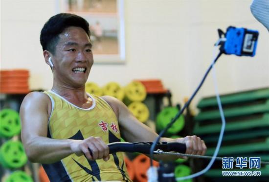 (體育)(2)賽艇——吉林隊選手參加國家賽艇集訓隊線上測試選拔賽