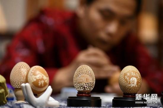 精美的蛋雕艺术