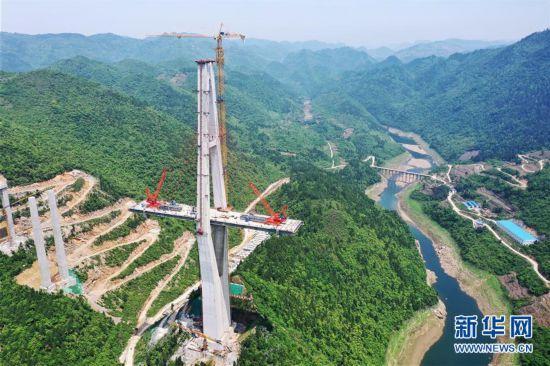 (聚焦复工复产)(3)贵州遵余高速湘江大桥建设进展顺利