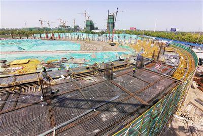 南通海门体育中心建设快速推进