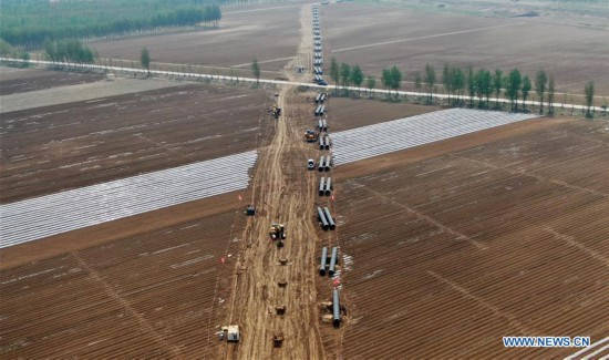Changling-Yongqing section of China-Russia east-route natural gas pipeline under construction