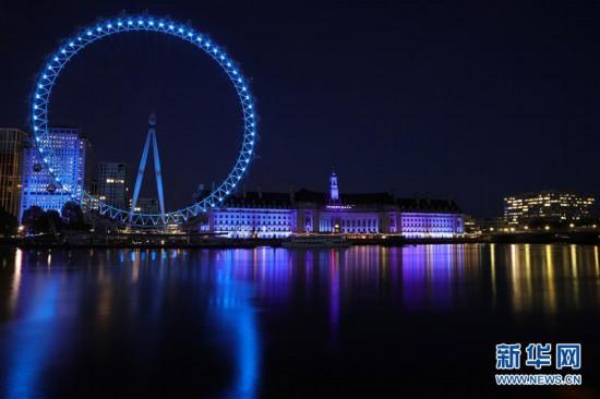 (国际疫情)(2)伦敦亮灯致敬医护人员