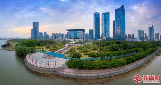 福州滨江市民广场上盖公园5.1开放
