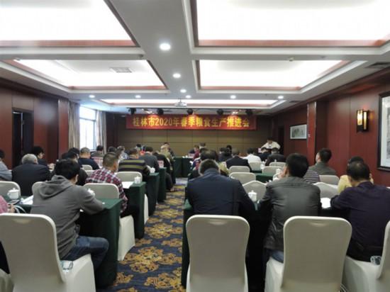 桂林市2020年春季粮食生产推进会在兴安县召开