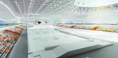 南京溧水国家极限运动馆进入顶盖建设阶段