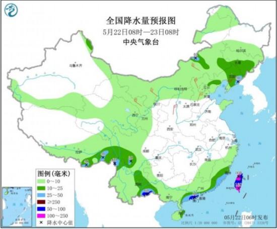 华南地区强降水趋于结束东北地区等地多阵雨天气