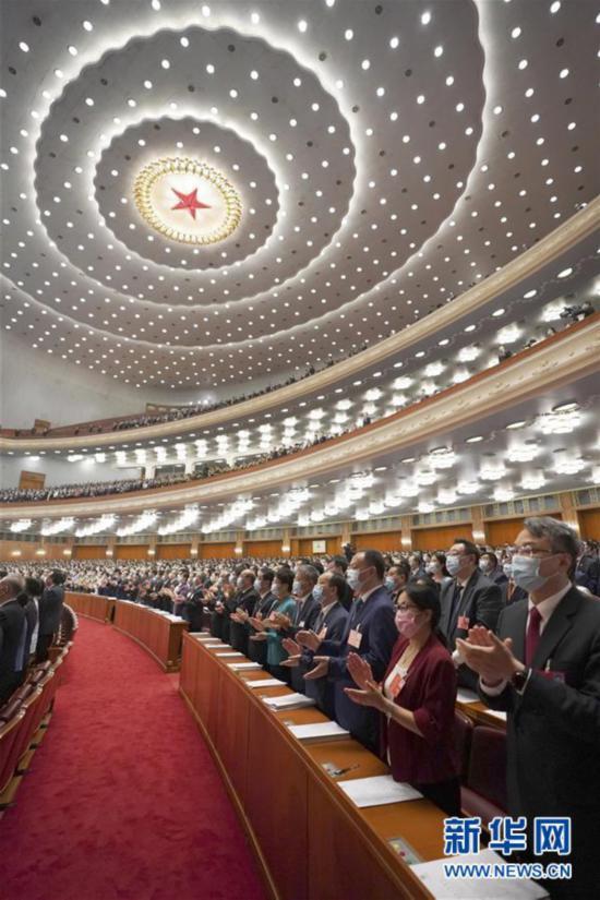 (两会・人大开幕・XHDW)(1)十三届全国人大三次会议在京开幕