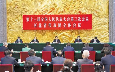 王滬寧參加河北省代表團審議王東峰主持許勤參加