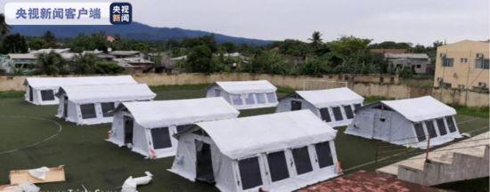 中国援圣普医疗队助力圣普建设方舱医院分享中国经验