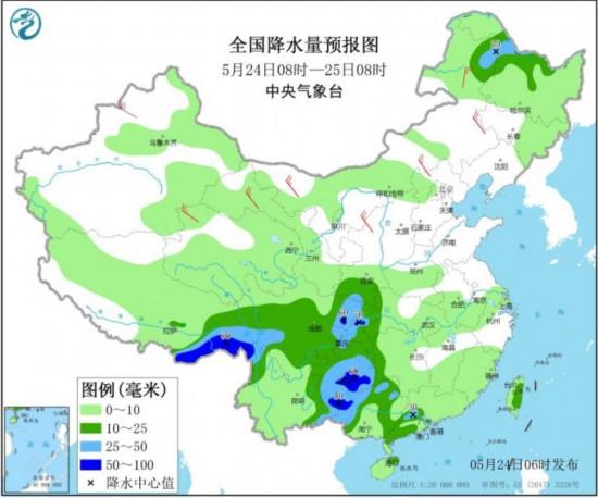 较强降雨袭扰南方西藏东南部迎持续阴雨