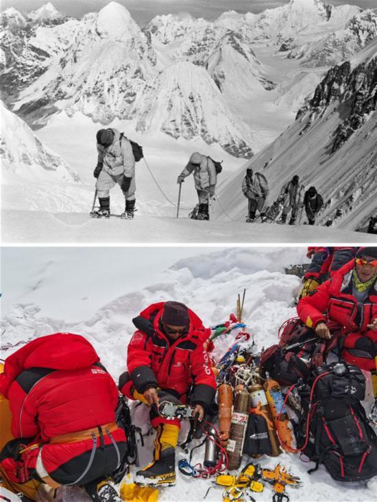 (体育)(1)登山――影像见证珠峰攀登60年
