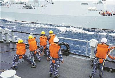 南部战区海军某支队组织实战背景下补给考核