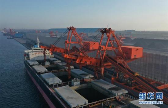 (新华视界)(1)唐山港曹妃甸港区煤码头三期先期工程投产